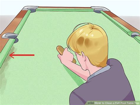 how to clean a pool table 3 ways to clean a felt pool table top wikihow