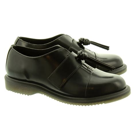 black shoes dr martens eliza flat shoes in black in black