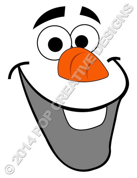 gallery olaf frozen face template