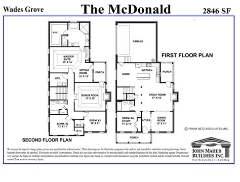 New Floor Plan by The Mcdonald Plan In The Wades Grove