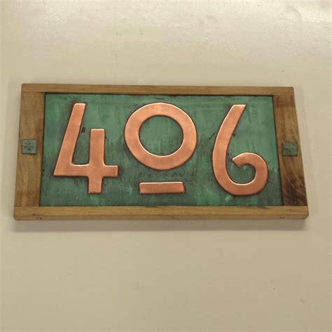 design house numbers uk mission mackintosh house numbers oak framed and copper