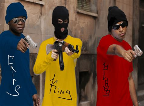 crips and bloods colors bloods vs crips vs gta v