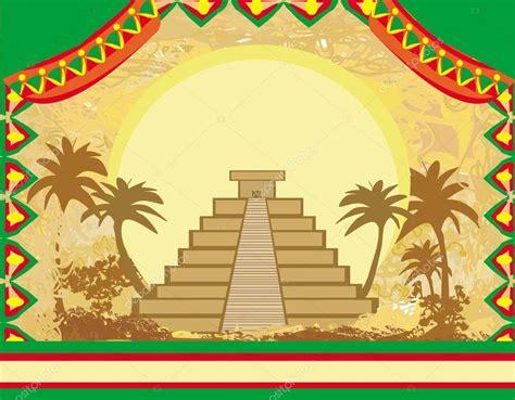 imagenes de los mayas animados pir 225 mide maya chich 233 n itz 225 m 233 xico grunge fondo