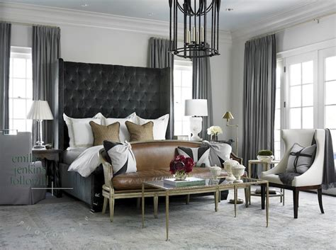 accessories splendid bedroom with brown leather tufted gray velvet headboard transitional bedroom