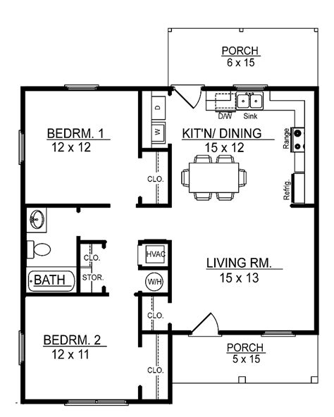 floor plan 2 bedroom bungalow small 2 bedroom floor plans you can download small 2