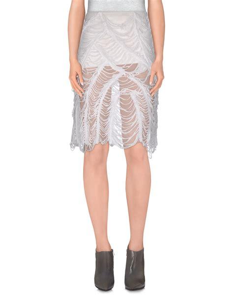 jean paul gaultier knee length skirt in white lyst