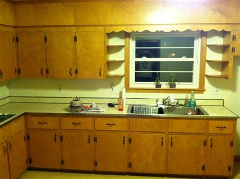 1950s kitchen cabinet before after 1950 s kitchen remodel on a 15k budget