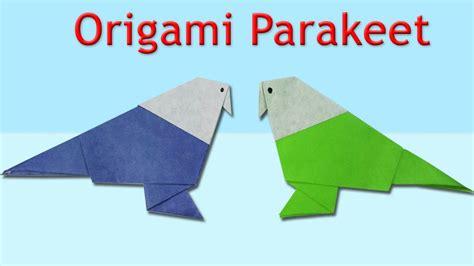 Origami Parakeet - how to make an origami parakeet origami parakeet