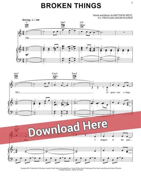 keyboard tutorial pdf free download matthew west broken things sheet music piano notes chords