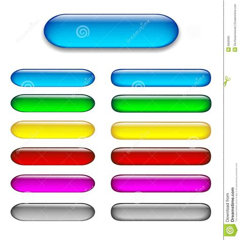 Colorful Set colorful set of glossy web buttons royalty free stock photo image 6828365