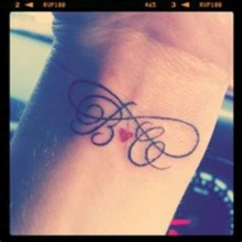 infinity tattoo designs with initials initial infinity ideas