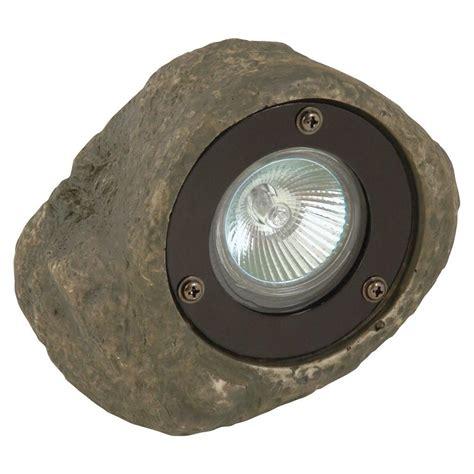 low voltage rock lights moonrays low voltage 20 watt grey outdoor rock spotlight