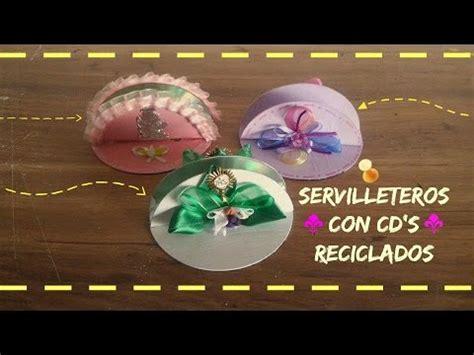 como hacer adornos de cds navide241os servilleteros con cd s reciclados