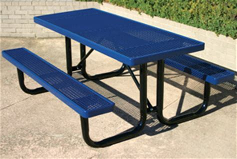belson outdoors picnic tables expanded steel rectangular picnic tables ultraleisure