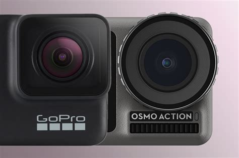 djis osmo action     gopro hero  black