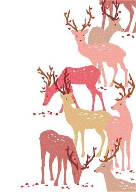 christmas pattern cute reindeer decorative illustration