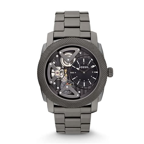 fossil machine twist stainless steel smoke me1128 fossil 174