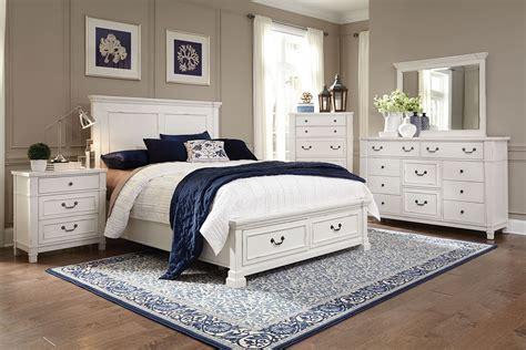 taryn  piece queen storage bedroom set antique white levin furniture