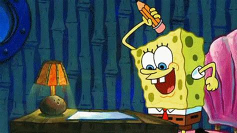 spongebob writing paper 25 gifs for busting through your creative block