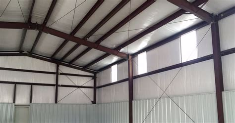 installing metal building insulation