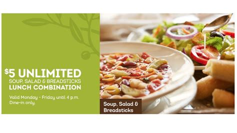 Olive Garden Salad Price by Olive Garden Coupon 5 Unlimited Soup Salad