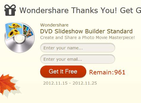 Wondershare Giveaway - wondershare giveaway dvd slideshow builder standard for everyone daves computer tips