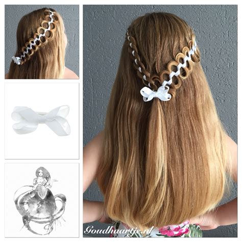 cute hairstyles ribbon half up with a four strand ribbon braid and a snake braid