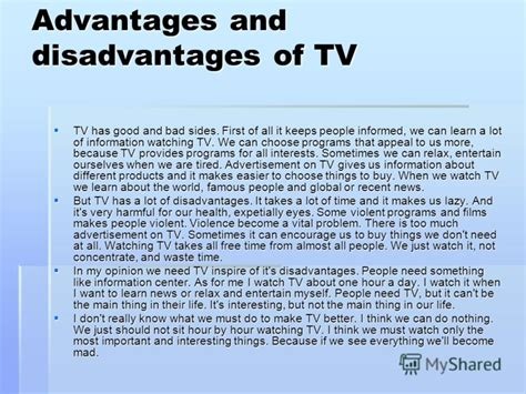 Without Television Essay by Essay On Advantages And Disadvantages Of Television We Can Do Your Homework For You Just Ask