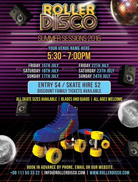 disco flyer template roller disco flyer template by designroom1229 graphicriver