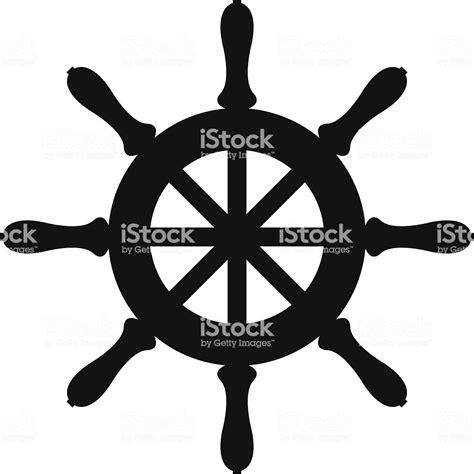 boat steering wheel free vector silhouette of sailboat steering wheel stock vector art