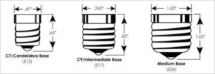 bulb socket size comparison guide partylights com