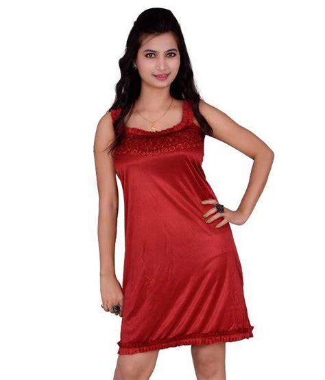 Fashion Maroon buy kismat fashion maroon satin baby doll dresses