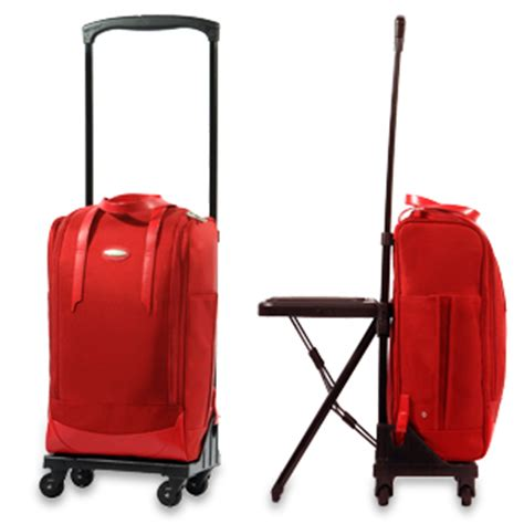 carry on bag that is also a chair and a desk walkin bag