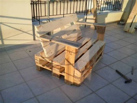 How To Make A Pallet With A Back diy pallet bench chair pallet furniture plans