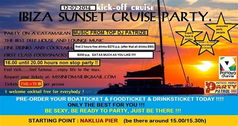 sunset catamaran cruise ibiza inspire pattaya ibiza sunset cruise party wednesday