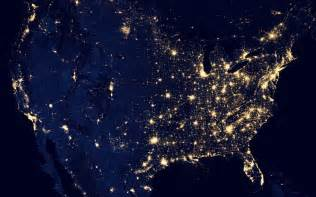 us map at from space grid map usa united states power electricity lights