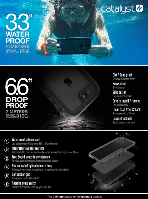 waterproof for iphone 8 plus 7 plus catalyst lifestyle