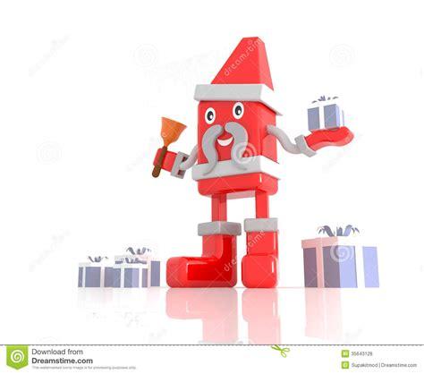 santa claus 3d cartoon character royalty free stock