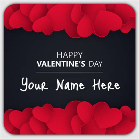 valentines day names write name on happy day greeting card