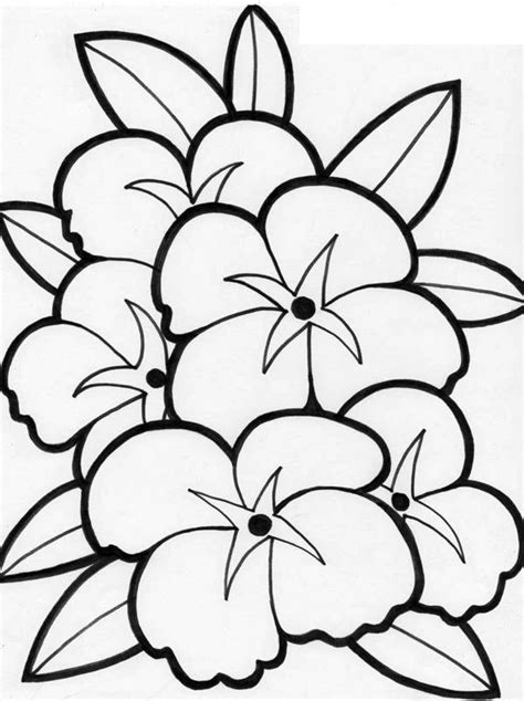 free coloring pages of hibiscus flowers hibiscus flower coloring page coloring home