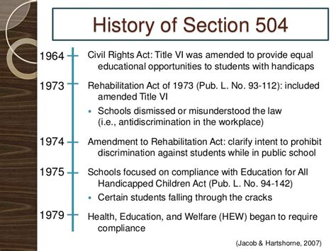 rehabilitation act of 1973 section 504 section 504 presentation final