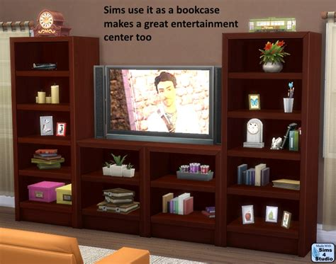 Single Bookcase Orangemittens Studio Sims 4 Studio