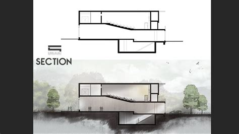architectural section section photoshop photoshop architecture youtube