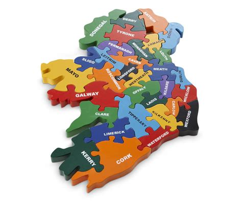 Handmade In Ireland - handmade wooden map of ireland puzzle by wood like to play