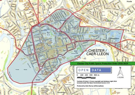 map uk chester chester city centre now subject to anti social behaviour