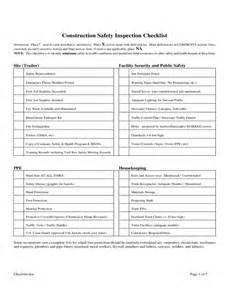 First Aid Report Form Template construction safety inspection checklist free download