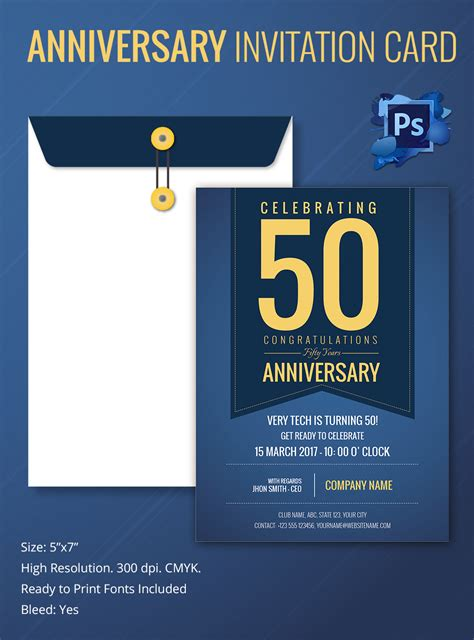 anniversary invitation cards templates free invitation card template 25 free psd ai vector eps