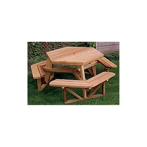 hexagon picnic table plan around the house pinterest