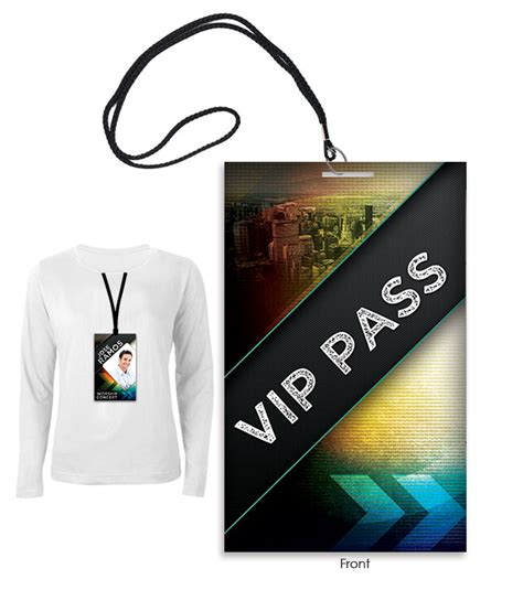 Badge Psd Template Vip All Access Pass Create Vip Passes Templates