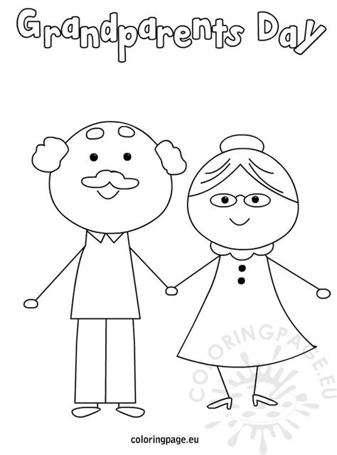 grandparents day card template grandparent s day coloring page